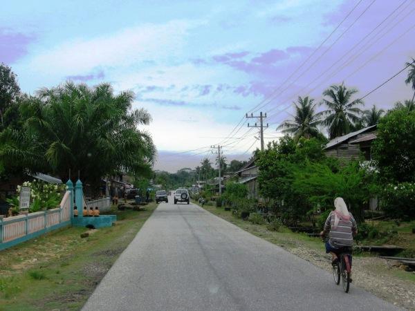 Lady on the bike